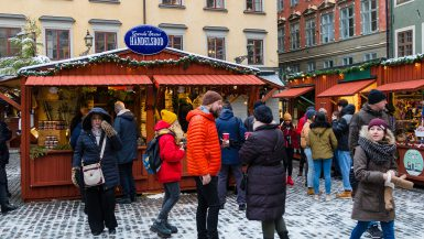 julemarked Stockholm Sverige Gamla Stan