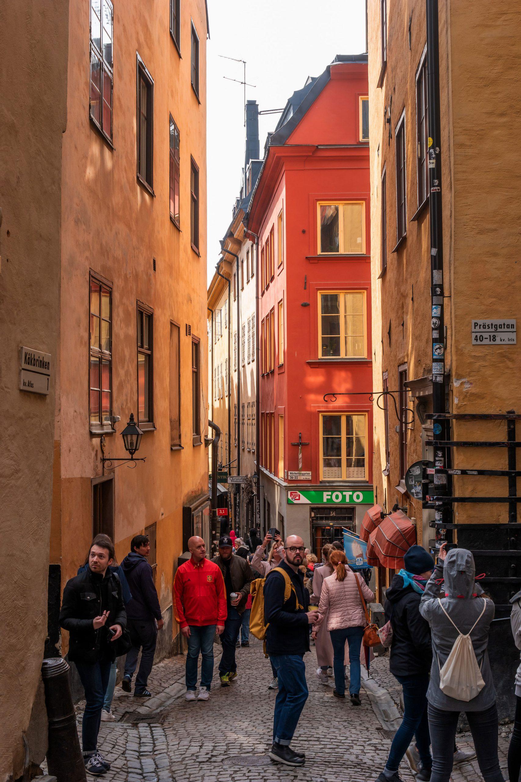 Gamla Stan Stockholm butikker byen smug