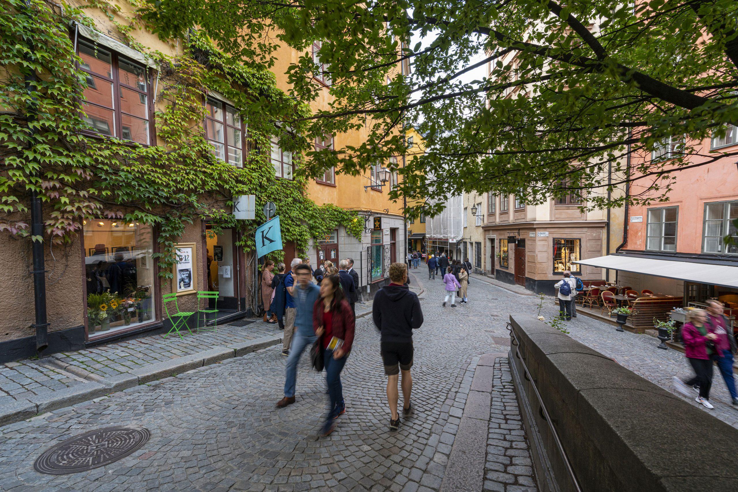 Gamla Stan Stockholm spisested restaurant gater