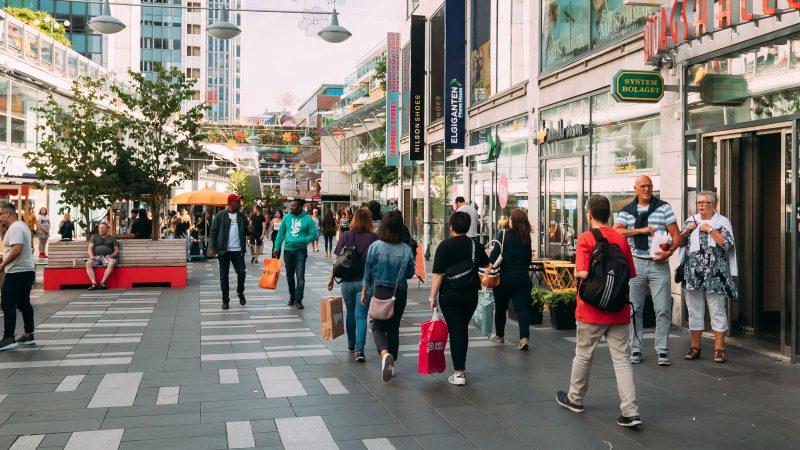 shoppinggater handlegater butikker Stockholm Sverige